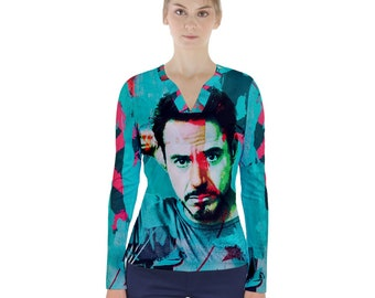 Iron Man Chaplin Avengers Captain America Sherlock Holmes Crew Neck Crop Top Robert Downey Jr