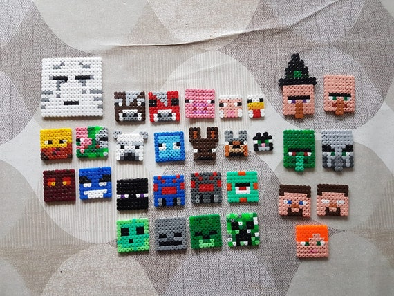 Minecraft Mobs Faces Perler Beads