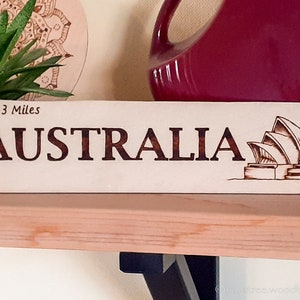 Custom Miles To Arrow Sign Miss You Present Handcrafted Woodburned Family Gift Personalised Family Name Wood Sign Housewarming Gift