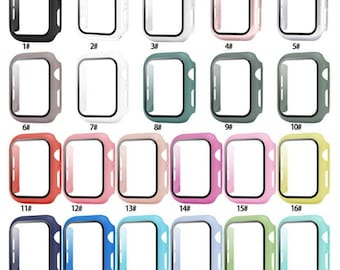 Apple Watch Case 360 Protection Tempered Glass Series 2,3,4,5,6,SE. 38mm 40mm 42mm 44mm