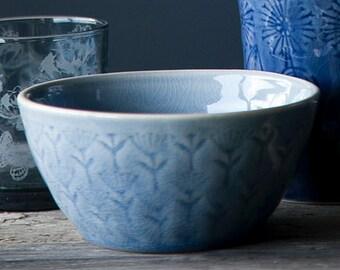 Bowl, ceramic bowl, handmade, light blue