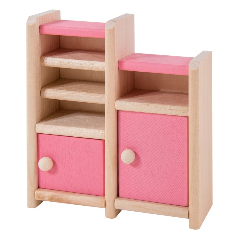 Set 12 Pieces Eliiti Wooden Toy Miniature Dining Room Doll House Furniture Wood Pretend Play Furniture Toys for Girls Kids 3 to 7 Years Old