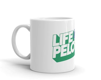Life in the Peloton - Green Logo Filter Coffee Mug Gift for Cyclists