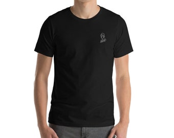 Embroidered Talking Luft - Black Cycling T-Shirt for Men