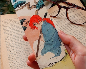 BOOKMARK KENSHIN - Rurouni Kenshin - Bookmarks - Kenshin Himura - Samurai X - Samurai - Anime - Ukiyo e - Kenshin - Bookmark