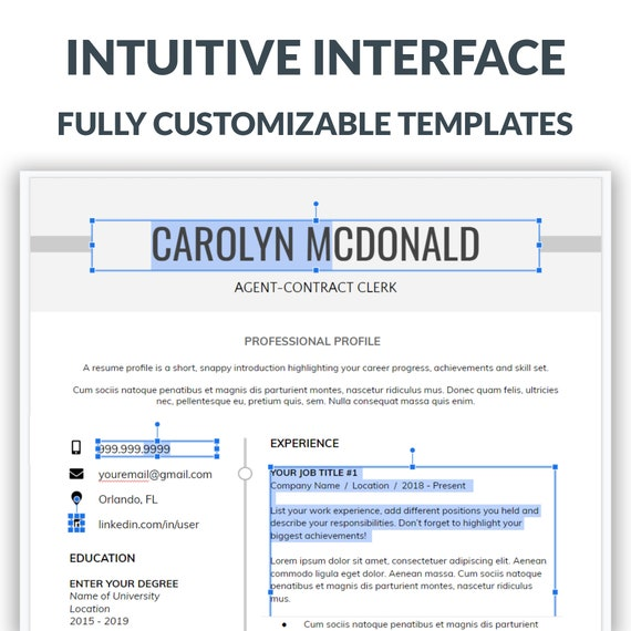 Professional Resume Template and Cover Letter Template   Executive Resume    Instant Download #10