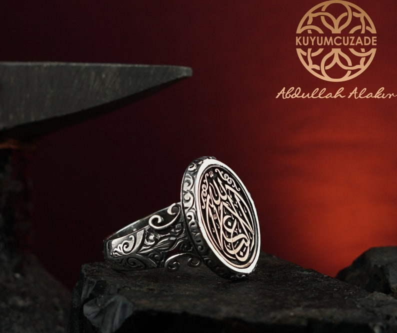 The Ring With \u0130nscribed /'/'La Galibe \u0130llallah/'/' There \u0130s No Winner But Allah, The Bohemian Ring The Statement Ring The Silver Ring