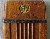 ca 1940 StromBecker Dollhouse Walnut Console Radio - 1 12 Scale