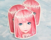 WHAT?! Planner Stickers - Pink Hair Don't Care!