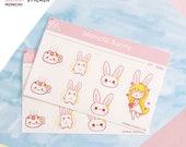 Monchii Bunny Sticker Set 2