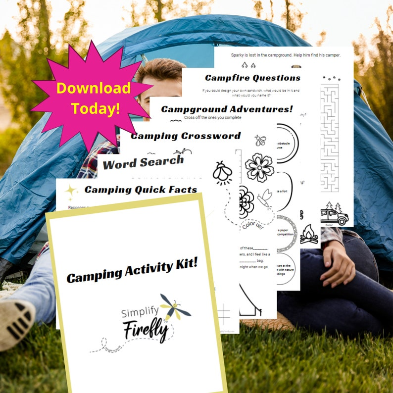 Camping Activity Kit for Kids Camping Game Camping image 0