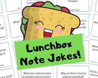 Lunchbox Note Jokes for 1st - 5th Graders, jokes for kids, family jokes, fun jokes for kids, lunchbox notes.