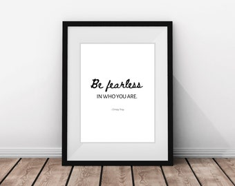Be Fearless Quote Printable, Home Décor, wall art, minimalist decor, Printable quotes, Inspiration art, Digital print, Downloadable prints
