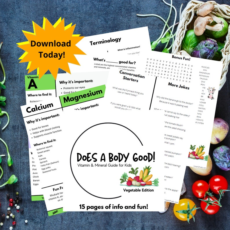 Does a Body Good Vitamin & Mineral Guide. Printables for image 0