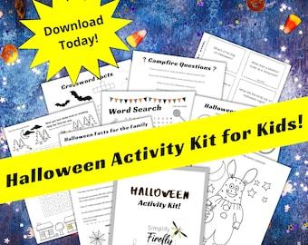 Halloween Activity Kit for Kids! Halloween Jokes, Halloween Activities, Halloween Puzzles, Halloween Facts, Halloween for kids, Printables
