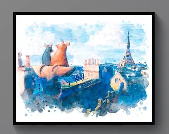 Ratatouille Kids Bedroom Movie Poster Wall Art BOX CANVAS Print