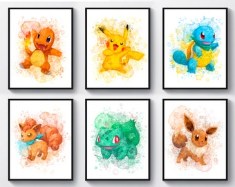 picture about Pokemon Posters Printable titled Pokemon poster Etsy
