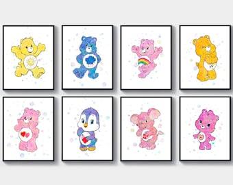 photograph regarding Care Bear Belly Badges Printable named Treatment bears nursery Etsy