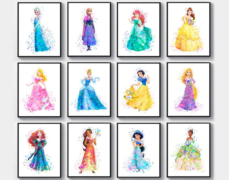 Girls Vests Disney Princess Belle Aurora Cinderella Ariel Sleeping Beauty Rapunzel