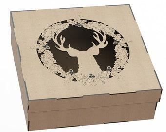 Wine box Laser cut files Organizer Cnc router plans DXF SVG