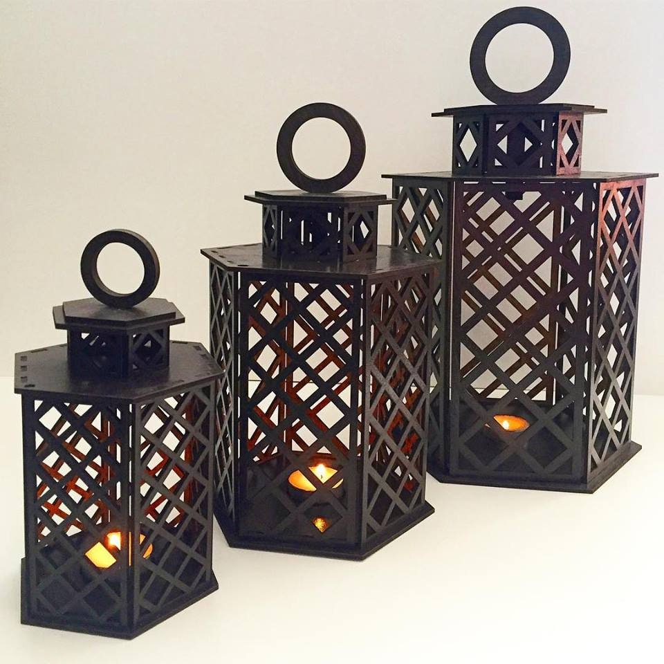 Lantern candle holder Home decor Laser cut files SVG DXF CDR project Cnc  router plans Instant download