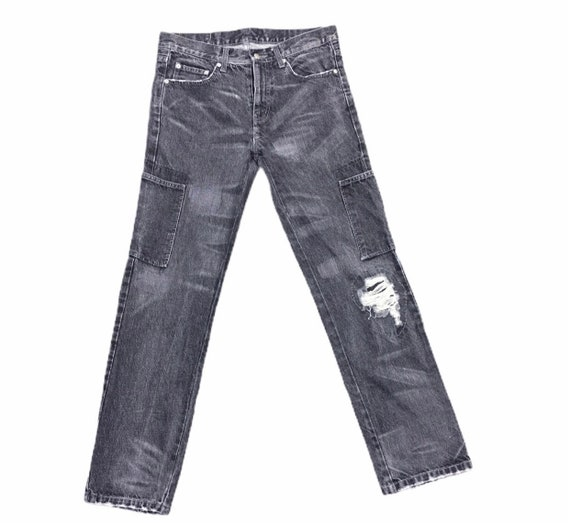 Neighborhood Men Black Denim Pants