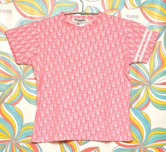 Rare! Vintage Christian Dior Pink Monogram T-shirt