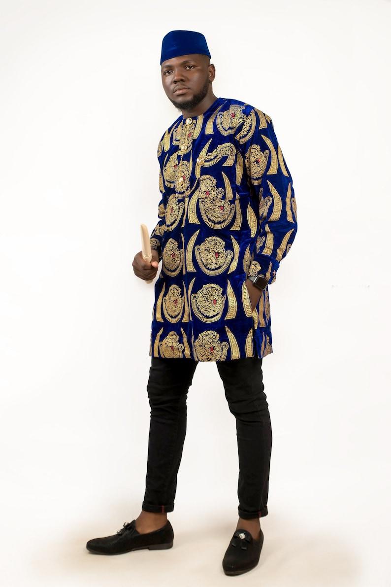 African Isi Agu top African Igbo Top Men Clothing