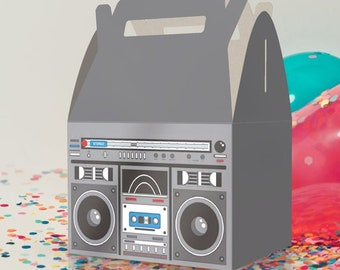 80s Place Cards Boom Box Food Place Cards 80s Boom Box Food Labels Boom Box Food Label Cards 80s Boom Box Food Cards