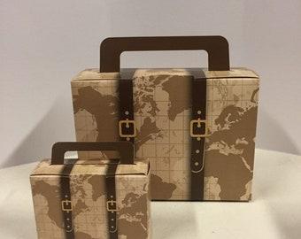 Vintage Suitcase  Suit case Favors  Travel Theme Favor  Luggage Favors