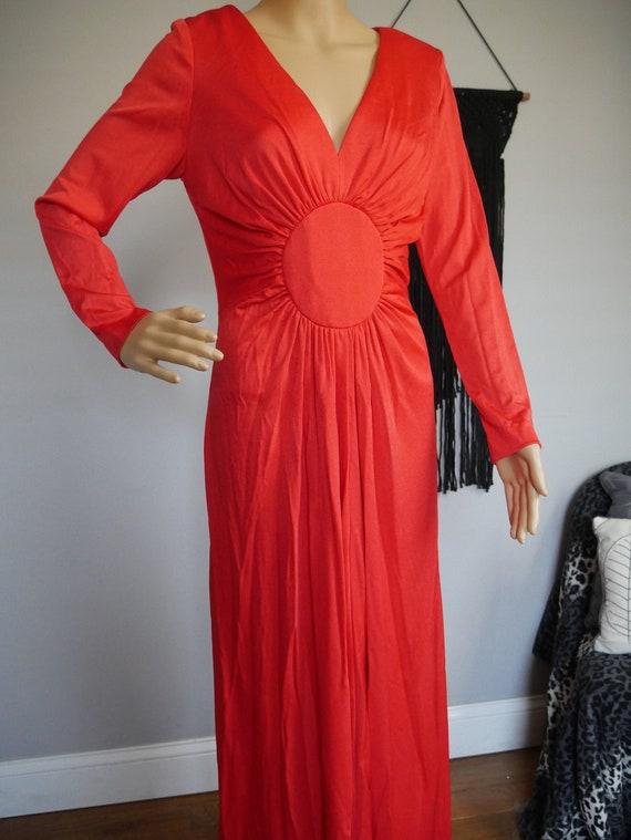 True Vintage 1970s Bright Red Miss Magnin at I. Ma