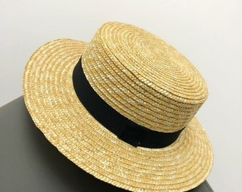 30a64792 Adult fisherman hat, natural woven straw hat, hand-woven hat, sun hat, gift  for her