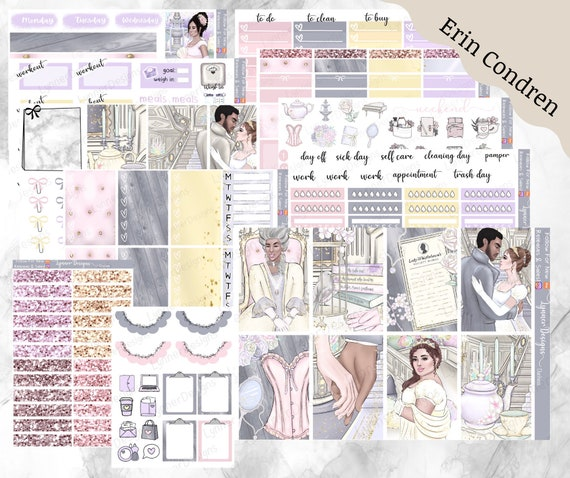 Filofax Personal Plan Inkwell Happy Planner Small Town Grace Planner Sticker Kit- Buffalo Plaid: BLACK AND WHITE- great for Erin Condren