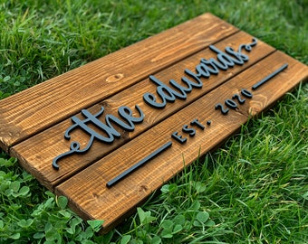 Custom Wood Sign | Personalized Family Name Sign | Last Name Pallet Sign | Wedding Gift | Home Wall Decor | Anniversary Gift