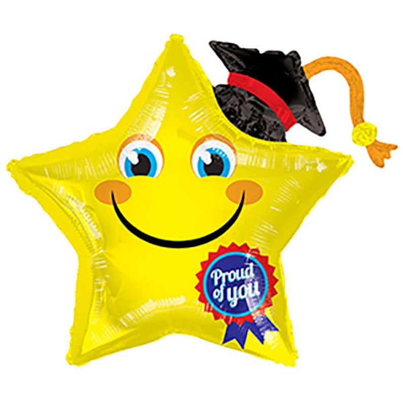 36 Graduation Smiley Star Proud of You foil Balloon