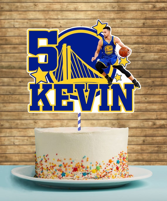 Golden State Warriors Printable Cake Topper Stephen Curry Etsy