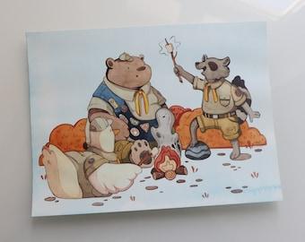 Campfire Friends - Original