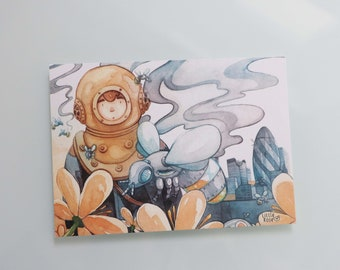 A world without bees - Postcard