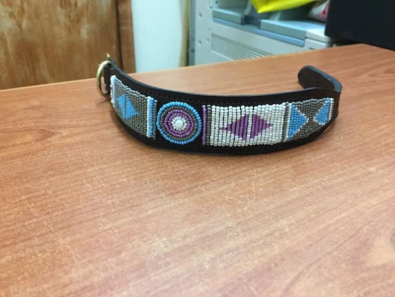 Personalized Bead Dog Collar Large Dog Collar African Pet Jewelry Gi Maasai Handmade Dog Collar African Beaded Leather Dog Collar