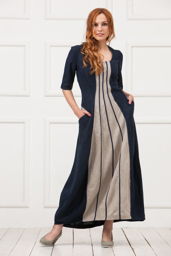 $69 NEW Woman Within Blue Dress  Summer Wedding Evening Holiday ITALIAN LAGENLOO