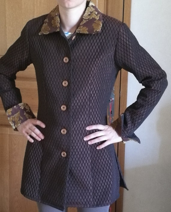 stretch quilted taffeta jacket