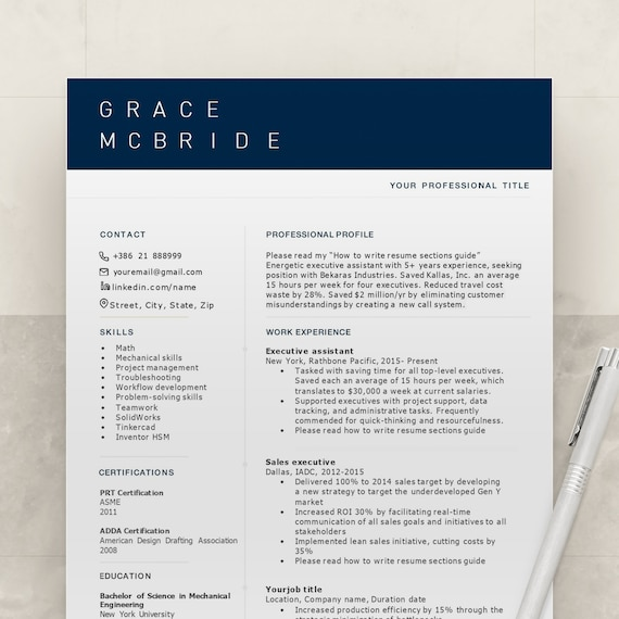 Executive resume Executive cv Manager resume