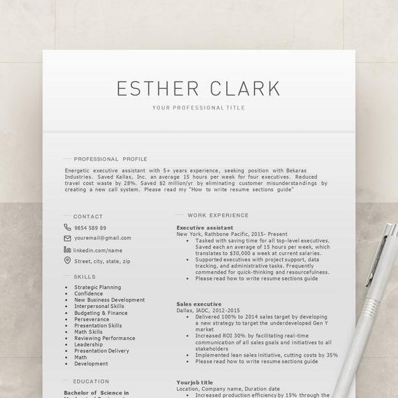 Executive resume Executive cv Manager resume