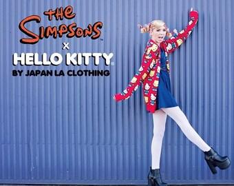 d27573c9f hello kitty BART Simpson cardigan Size Small vintage