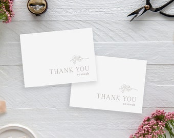 Magnolia Branch Thank You Cards - Folded A2 (4.25x5.5 in.) cards, blank inside, blank white envelopes, thank you so much