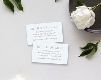 Simple, Minimal Additional Information Card - Magnolia Branch Suite - Registry card or website card for wedding invitations