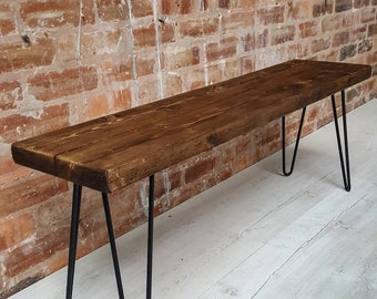 Remarkable Wooden Bench Etsy Ocoug Best Dining Table And Chair Ideas Images Ocougorg