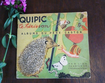 HERISSONS silver wooden earrings stud hedgehog chips animal forest garden mushroom tiny children gift BOW002