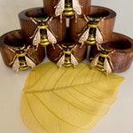 Wooden Enamel Bee Napkin Rings (Sold 6 or 12)
