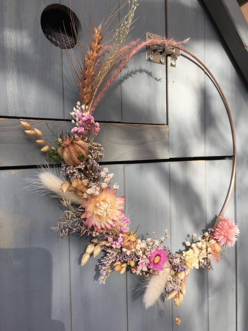 Dried flower crown Grand 25 cm